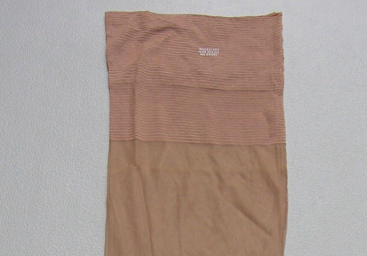 "3 pr Vtg 10.5 x 35.5 & 36"" long outsize seamed nylon stockings plus tall 10 1/2"