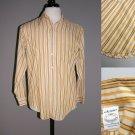 VTG 50s Arrow THE TRADITIONALS Shirt Sanforized plus Dacron/ Cotton 15 1/2 X 33