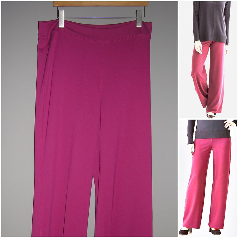 J Jill Wearever Collection Berry Smooth Full Leg Pant no wrinkle Large Tall