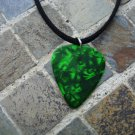 "Guitar Pick Necklace ""Emerald Green"" - Music Fashion Jewelry Gift!"