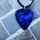"Guitar Pick Necklace ""Sapphire Blue"" - Music Fashion Jewelry Gift!"