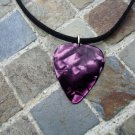 "Guitar Pick Necklace ""Amethyst Purple"" - Music Fashion Jewelry Gift!"