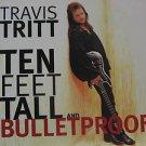 "TRAVIS TRITT usa display TEN FEET TALL AND BULLETPROOF Country 12"" X 12"" DOUBLE-"
