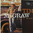 "TIM McGRAW usa display ALL I WANT Country 12"" X 12"" DOUBLE-SIDED POSTER. THIS IS"