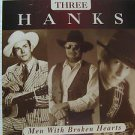 "THREE HANKS usa display MEN WITH BROKEN HEARTS 12"" X 12"" DOUBLE-SIDED POSTER. TH"