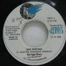 """SPRAGGA BENZ jamaica 45 SHE WRONG 7"""" Reggae STUDIO-2000"""