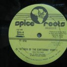 """SPICE ROOTS usa 12"""" ATTACK OF THE CARTOONS Dj WHITE JACKET NUTMEG"""