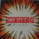 "SCORPIONS usa display FACE THE HEAT Rock 12"" X 12"" DOUBLE-SIDED POSTER. THIS IS"
