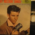 """RICKY NELSON usa 45 SINGS 7"""" Rock PICTURE SLEEVE/WRITING AND STICKER IMPERIAL"""