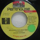 "RICHIE STEPHEN jamaica 45 WEAKNESS FOR SWEETNESS 7"" Reggae PENTHOUSE"