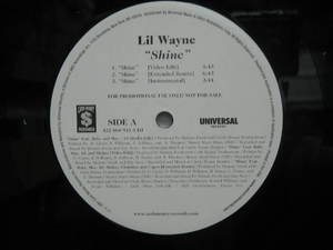 "LIL WAYNE usa 12"" SHINE Dj WHITE JACKET UNIVERSAL"