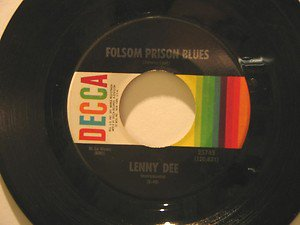 """LENNY DEE usa 45 FOLSOM PRISON BLUES 7"""" Vocal TURN AROUND LOOK AT ME DECCA"""