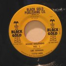 """LEE OFMAN usa 45 MIAMI DOLPHINS N.1 7"""" Vocal BLACK GOLD"""
