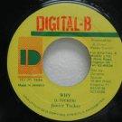"JUNIOR TUCKER jamaica 45 WHY 7"" Reggae DIGITAL-B"