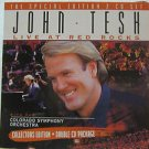 "JOHN TESH usa display LIVE AT THE RED ROCKS 12"" X 12"" DOUBLE-SIDED POSTER. THIS"