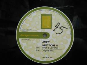 "JIMPY usa 12"" INFECTIOUS DORIGEN Dj WHITE JACKET"