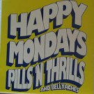 """HAPPY MONDAYS PILLS usa display S/T SELF SAME UNTITLED 12"""" X 12"""" DOUBLE-SIDED PO"""