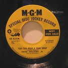 """HANK WILLIAMS JR. usa 45 YOU CAN HEAR A TEAR DROP 7"""" Country PROMO/I CAN'T TAKE"""