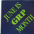 "GRP usa display JUNE IS GRP MONTH 12"" X 12"" DOUBLE-SIDED POSTER. THIS IS NOT AN"