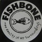 """FISHBONE usa display THE REALITY OF MY SURROUNDINGS Rock 12"""" X 12"""" DOUBLE-SIDED"""
