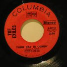 """EXILES usa 45 YOUR DAY IS COMIN' 7"""" Vocal PUT YOUR HANDS OF TOGETHER COLUMBIA"""
