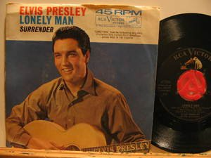 """ELVIS PRESLEY usa 45 LONELY MAN/SURRENDER 7"""" Rock PICTURE SLEEVE RCA"""