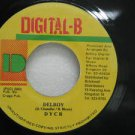 """DYCR jamaica 45 DELROY 7"""" Reggae DIGITAL-B"""