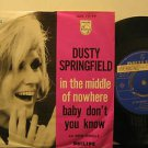 "DUSTY SPRINGFIELD holland 45 IN THE MIDDLE OF NOWHERE 7"" Rock PICTURE SLEEVE/PRO"