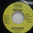 "DAVID FERGUSON jamaica 45 GHETTO RHYTHM 7"" Reggae BIG-BOUT-YA-RECORDS"