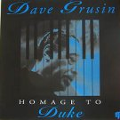 """DAVE GRUSIN usa display HOMAGE TO DUKE 12"""" X 12"""" DOUBLE-SIDED POSTER. THIS IS NO"""