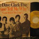 """DAVE CLARK FIVE usa 45 PLEASE TELL ME WHY 7"""" Rock PICTURE SLEEVE EPIC"""