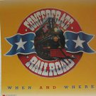 "CONFEDERATE RAILROAD usa display WHEN AND WHERE 12"" X 12"" DOUBLE-SIDED POSTER. T"