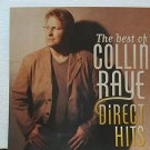 """COLLIN RAYE usa display DIRECT HITS 12"""" X 12"""" DOUBLE-SIDED POSTER. THIS IS NOT A"""