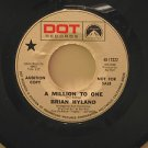 """BRIAN HYLAND usa 45 MILLION TO ONE/IT COULD ALL BEGIN AGAI 7"""" Vocal PROMO/WHITE"""