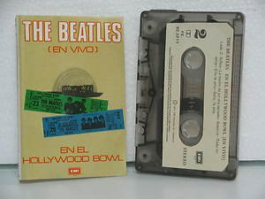 BEATLES peru cassette EN EL HOLLYWOOD BOWL Rock SPANISH PRINT EMI excellent