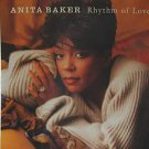 """ANITA BAKER usa display RHYTHM OF LOVE 12"""" X 12"""" DOUBLE-SIDED POSTER. THIS IS NO"""