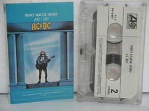 AC/DC peru cassette WHO MADE WHO Rock SPANISH PRINT ATLANTIC