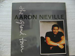 "AARON NEVILLE usa display THE GRAND TOUR Pop 12"" X 12"" DOUBLE-SIDED POSTER. THIS"