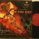 ERNEST ANSERMET usa LP STRAVINSKY THE FIRE BIRD Classical MONO/ORIGINAL LONDON e