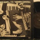 DORIS HAYS usa LP THE PIANO MUSIC OF HENRY COWELL Classical FINNADAR
