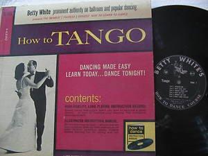 BETTY WHITE latin america LP HOW TO TANGO PRIVATE