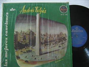 ANDRES FALGAS latin america LP LAS MEJORES CANCIONES DE Tango SONOLUX