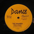 """WHISPERS usa 12"""" AND THE BEAT GOES ON/ROCK STEADY Dj PROMO/WHITE JACKET DANCE-CL"""