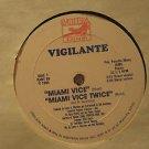 """VIGILANTE usa 12"""" MIAMI VICE OST MIAMI MUSIC PANTERA"""