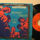 "SANTANA mexico EP MUJER DE MAGIA NEGRA 7"" Rock PICTURE SLEEVE CBS"