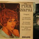 "RIKA ZARAI france EP PRAGUE 7"" French PICTURE SLEEVE PHILIPS"