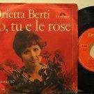 """ORIETTA BERTI italy 45 IO TU E LE ROSE 7"""" Italian PICTURE SLEEVE POLYDOR"""