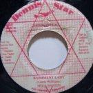"""MEGA BANTON jamaica 45 BASHMENT LADY/VERSION 7"""" Reggae DENNIS STAR"""