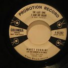 """MARTY ROBBINS usa 45 THE LAST TIME I SAW MY HEART 7"""" Country PROMO/WHITE LABEL/A"""