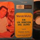"""MANOLO MUNOZ mexico 45 EN UN RINCON DEL ALMA 7"""" Latin PICTURE SLEEVE MUSART"""